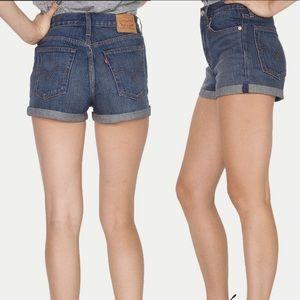 Levis Women's High Rise Wedgie Fit Denim Shorts